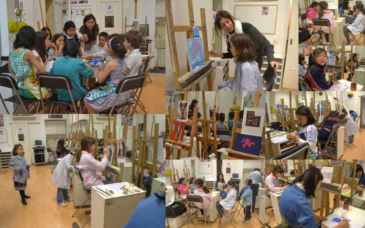 Academia de pintura, todos los niveles, curso internacional. Especialistas Arte Infantil