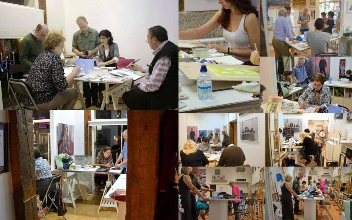 Academia de pintura, todos los niveles, curso internacional. Especialistas en Acuarela