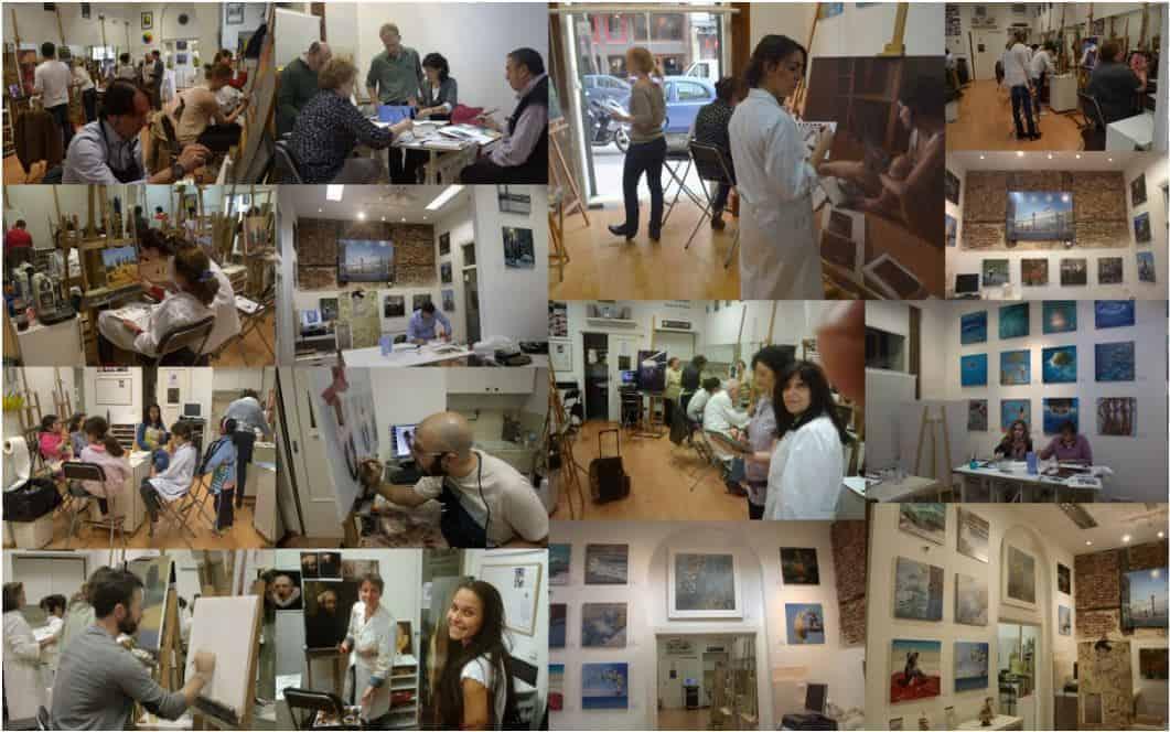 Academia de pintura, todos los niveles, curso internacional. Especialistas en Pintura al Óleo