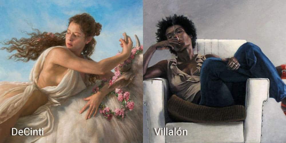 Academia de Pintura en Madrid DeCinti Villalón, clases y cursos de pintura y dibujo todos los niveles